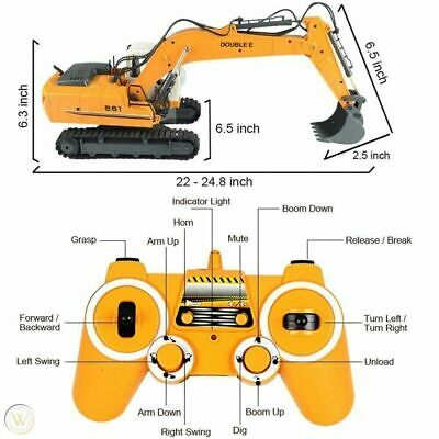 DOUBLE E 1/16 Scale Digger, Remote Controlled Construction Car Truck RC Excavato • 52.99£