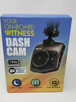 AU16.92 • Buy Pilot Dash CAM Camera CHARGER & MOUNT 720p HD Night Vision LCD Screen FREE SHIPP
