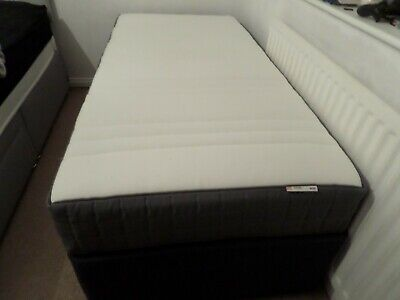 IKEA HOVAG Mattress (New) And HYPNOS Single Divan Bed Base (Used) • 145£