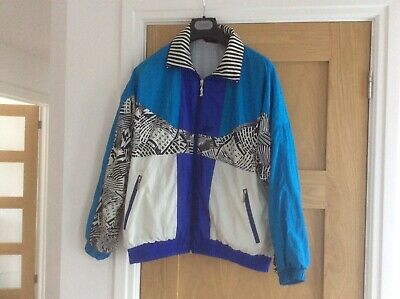 C&A Shell Suit Jacket, Retro Rodeo Ladies Size 14 • 18£