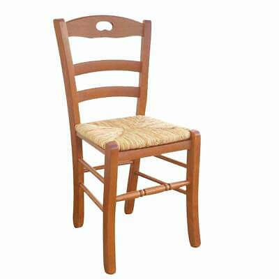 Wooden Chair Loris With Sitting IN Straw Of Rice IN Dye Cherry Tree • 63£