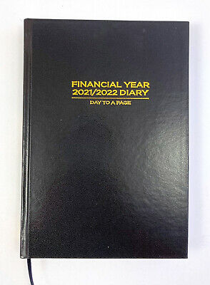AU26.99 • Buy 2021-2022 Financial Year Diary Ozcorp A5 Day To Page Black FD11