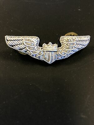 """$4.99 • Buy Military Air Force Wing Pin 2"""" Vintage"""