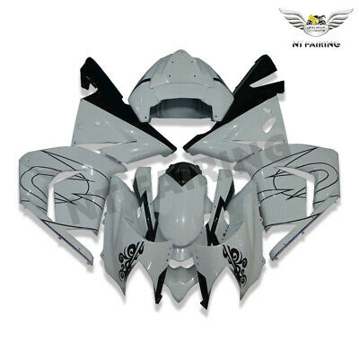 $469.99 • Buy WO Injection White Plastic Fairing Fit For Kawasaki Ninja 2004-2005 ZX10R A001