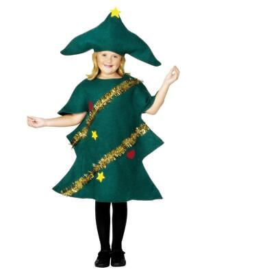 Child Christmas Tree Fancy Dress Party Costume • 9.99£