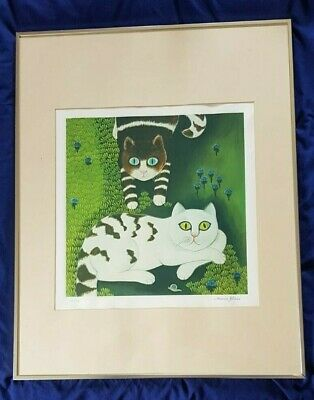 Maria Kloss German Artist Cat Limited Print (25/50) Signed And Numbered • 249£