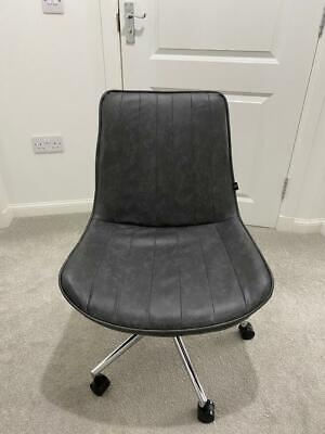 Faux Leather Grey Swivel Chair • 65£