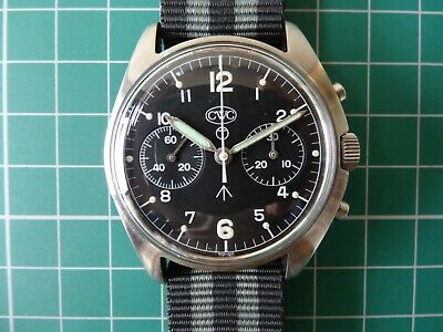 $ CDN4259.74 • Buy Vintage CWC 0552 Royal Navy Issued Chronograph Wrist Watch - Falklands 1982