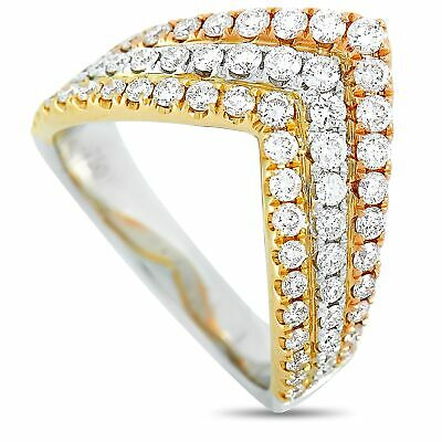 AU2070.60 • Buy 18K White, Yellow, And Rose Gold 1.00 Ct Diamond Ring