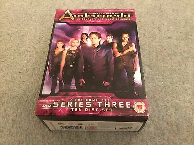Used Gene Roddenberry's Andromeda Complete Series 3 10-disc DVD Boxset • 6£