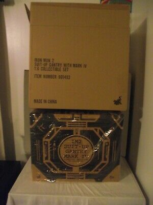 $ CDN1000 • Buy Hot Toys Iron Man 2 Suit-up Gantry With Mark Iv 1/6 Collectible Set (ym*)