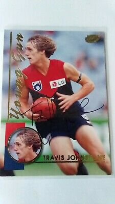 AU1.99 • Buy Signed Afl Card Travis Johnstone Melbourne Demons