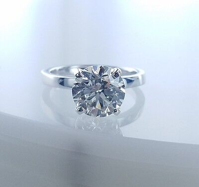 AU17377.20 • Buy 2.72 CT Solitaire Diamond Engagement Ring GIA Certified M-SI1 Ladies Round Cut