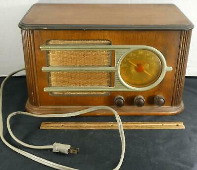 $ CDN145.84 • Buy Vintage Art Deco Wood Silvertone Tube Radio Model 6050 Sears !!
