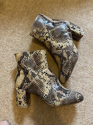 £12 • Buy Red Herring Snake Print Ankle Boots Size UK8 EUR41