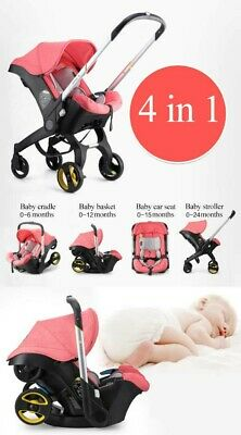 AU178.53 • Buy Baby Pushchair Strollers 4 In 1 Travel System + Accessories Pink Car Baby Seat