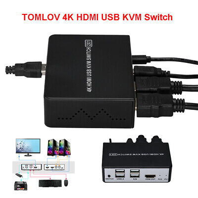 AU37.93 • Buy 2 In 1 Out HDMI KVM Switch USB Switcher Splitter Monitor With Button Switch Box