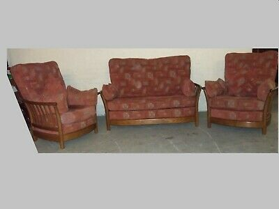 Ercol Renaissance 3 Piece 2 Seater Sofa 2 Chairs Golden Dawn Pos Delivery • 375£