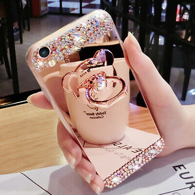 AU14.98 • Buy For IPhone 12 Pro Max 11 XS XR 6 7 8 Girl's Women Diamond Case Cover With Holder