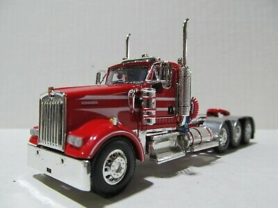 $ CDN107.69 • Buy Dcp / First Gear 1/64 Scale W-900 Kenworth Day Cab, Triple Axle, Red & White