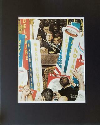 $ CDN50.12 • Buy Norman Rockwell   A Time For Greatness  (Kennedy) Matted Offset Lithograph 1977