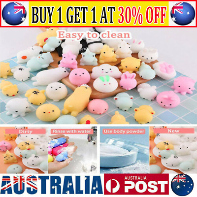 AU8.99 • Buy 10/50PC Cute Animal Squishies Kawaii Mochi Squeeze Toys Stretch Stress Squishy ~