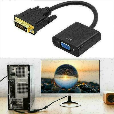 AU6.58 • Buy 1080p DVI-D 24+1 Pin Male To VGA 15Pin Female Cable Active Converter Adapte E1I9