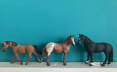 Schleich Horse Bundle Of 3 - Curly, Appaloosa, Tennessee. Show Model Appaloosa • 15£