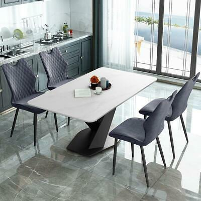 £540 • Buy Ayden Marble Dining Table Rectangular 140/160cm Sintered Stone Top 4 Or 6 Seater