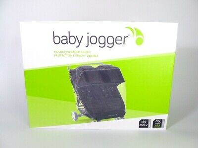 Double Weather Shield For Baby Jogger City Mini 2/GT2 Pram Twin Rain Cover NEW • 29£