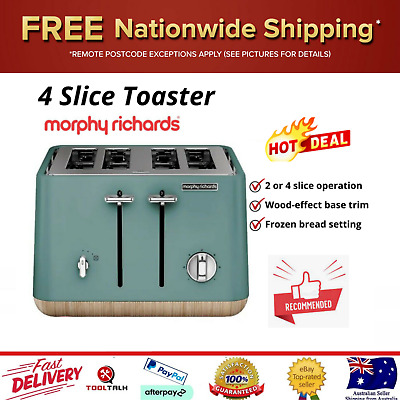 AU89.70 • Buy Morphy Richards 4 Slice Toaster Machine Bread Toasting Removable Tray ASPECT New