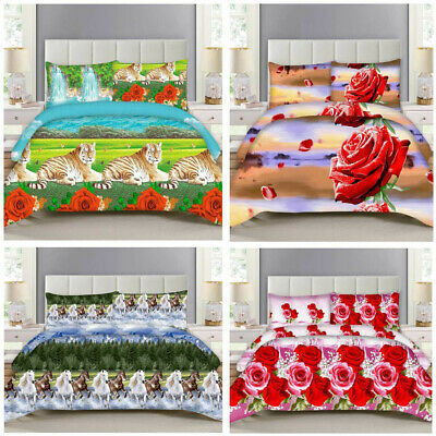 AU40.89 • Buy 3D Duvet Cover Set Animal Bedding Quilt & Pillowcase Single Double King Sizes