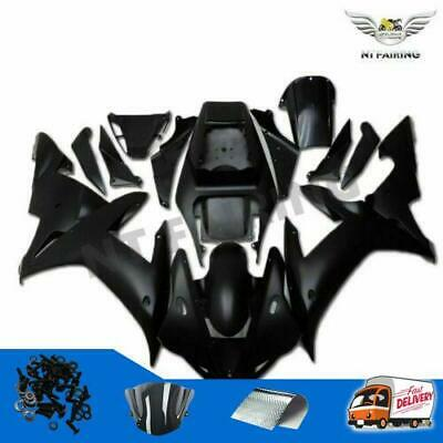 $469.99 • Buy WO Injection Pure Black ABS Plastic Fairing Fit For Yamaha YZF R1 2002-2003 F024