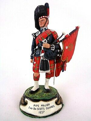 £79.99 • Buy Charles Stadden Pewter Figure Studio Painted Pipe Major Scots Guards 1937 Rare