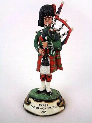 £94.99 • Buy Charles Stadden Pewter Figure Studio Painted Piper The Black Watch 1984 Rare