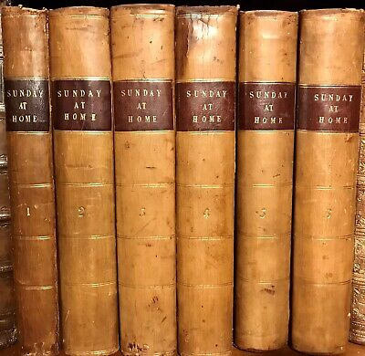 Sunday At Home Rare Complete Volume 1 To 6. 1854 To 1859 • 229.84£