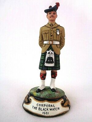 £99.99 • Buy Charles Stadden Pewter Figure Studio Painted Corporal The Black Watch 1981 Rare