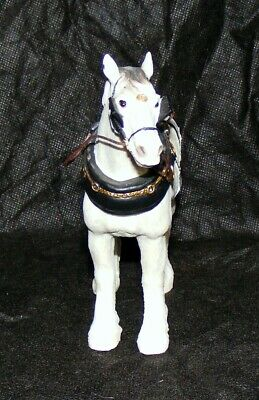 A Shire Horse Grey With Harness Figurine From Country Life By Leonardo ™ LP44656 • 16.95£