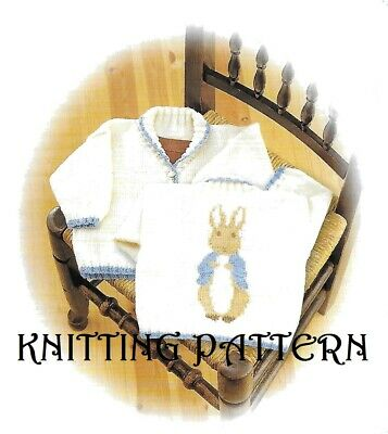 £2.99 • Buy Peter Rabbit Jacket/Cardigan KNITTING PATTERN To Fit 6, 12 And 18 Months DK1001