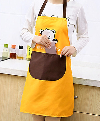 £2.99 • Buy Wipe Clean Apron Pocket Soft Fabric Like Pvc Durable Chefs Kitchen Butcher