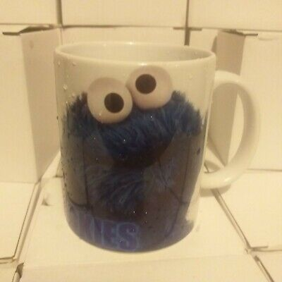 £4 • Buy Cookie Monster Sesame Street ..tell Me More About These Cookies Mug New Boxed...