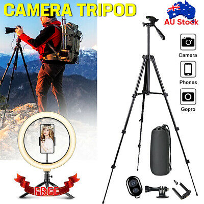 AU23.95 • Buy Camera Tripod Stand Holder Mount For IPhone Samsung Universal + LED Ring Light
