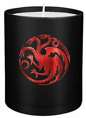 Game Of Thrones: House Targaryen Large Glass Candle New Loose Leaf Book • 10.73£