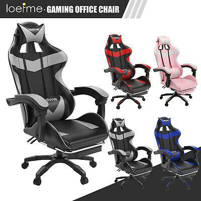 Racing Gaming Computer Chair PU Recliner Office Swivel Lift Adult Executive Seat • 102.99£