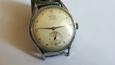 $ CDN97.43 • Buy VINTAGE Big Military Technos Ancre WWII 15 Rubis Jewels Swiss Made Watch