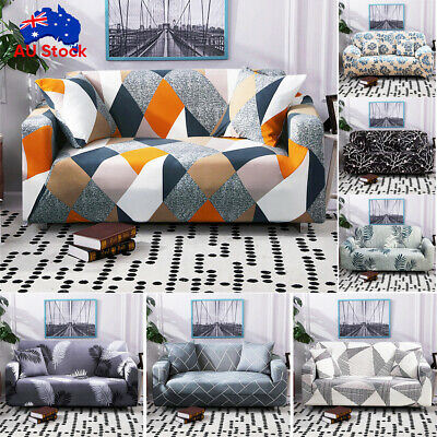AU20.29 • Buy Sofa Covers 1/2/3/4 Seater High Stretch Lounge Slipcover Protector Couch Cover