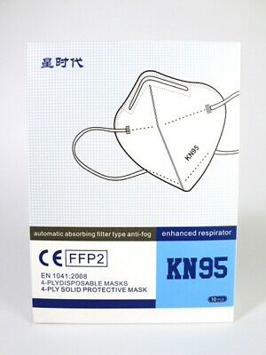 £9.99 • Buy 10x FFP2 Disposable Face Mask Anti-Fog 4Ply Boxed - Good Quality (Fast Post UK)