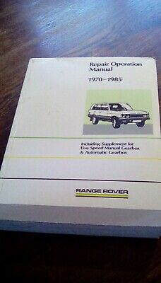 Range Rover Service And Repair Manuals Haynes And Factory Edition • 32£