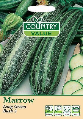 £2.59 • Buy Marrow Seeds Long Green Bush By Country Value FREE UK DELIVERY Vegetable