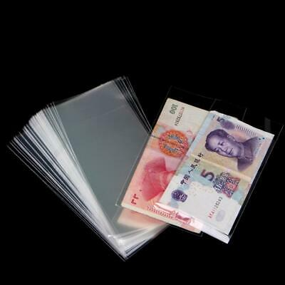 £2.59 • Buy 100x Transparent Banknote Sleeves Paper Money Holder Collection Bags FAST